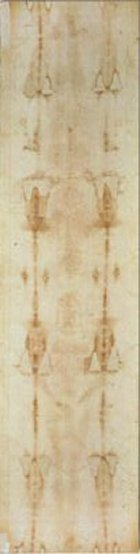 Full length picture of the Shroud of Turin